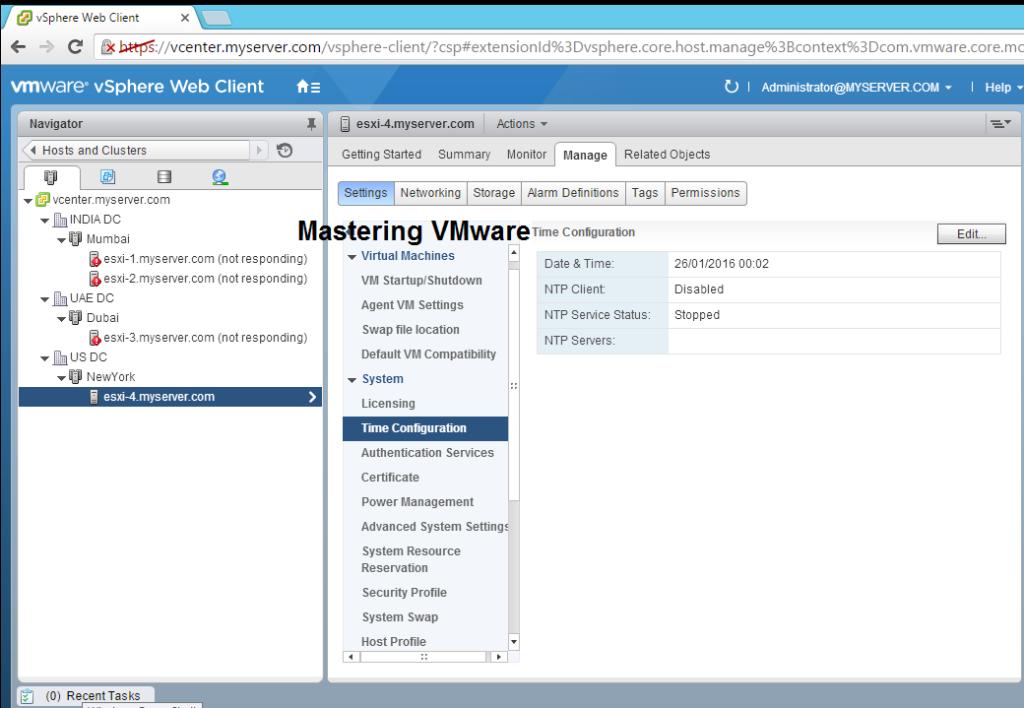 Configuring NTP in ESXi 6 | Mastering VMware