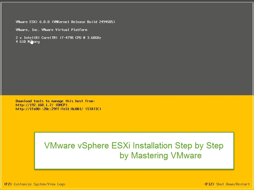 Photo of ESXi 6 Installation Step by Step