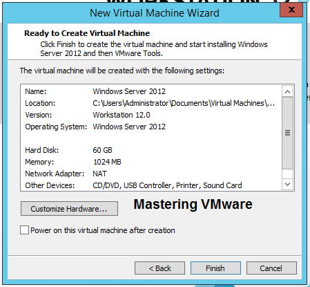 Create virtual machine in Workstation | Mastering VMware