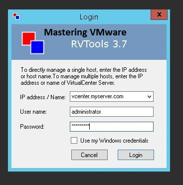 VM Monitoring using RV Tools | Mastering VMware