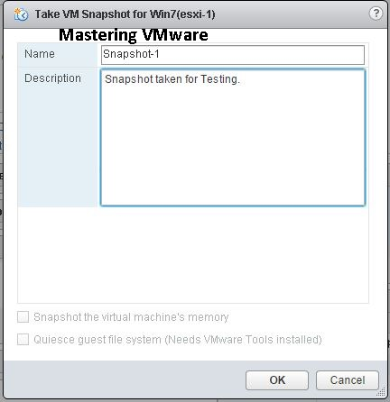 How to Take Snapshot | Mastering VMware