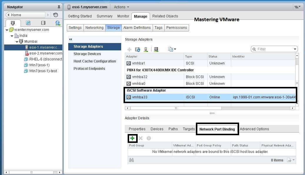 How to add iSCSI datastore | Mastering VMware