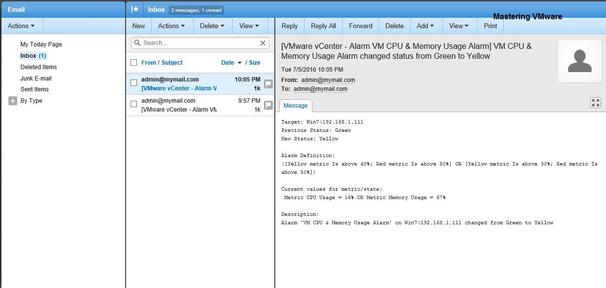 Photo of Configuring Email Alert in vCenter Server