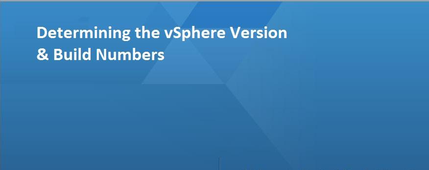 vsphere version