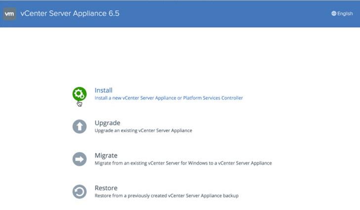 vCSA Installer 6.5