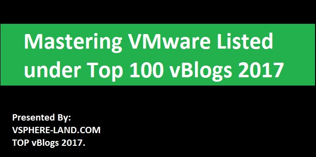 Photo of Mastering VMware Listed In Top 100 vBlogs