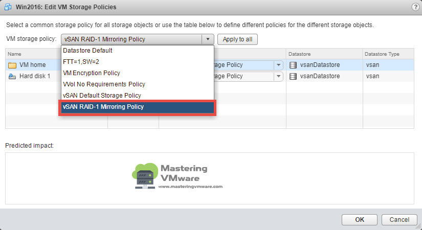 Assign vSAN Policy | Mastering VMware