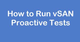 vsan-proactive-tests