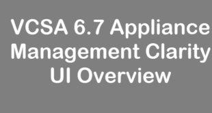 vcsa-appliance-management