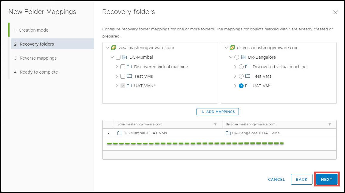 configure folder mappings in srm