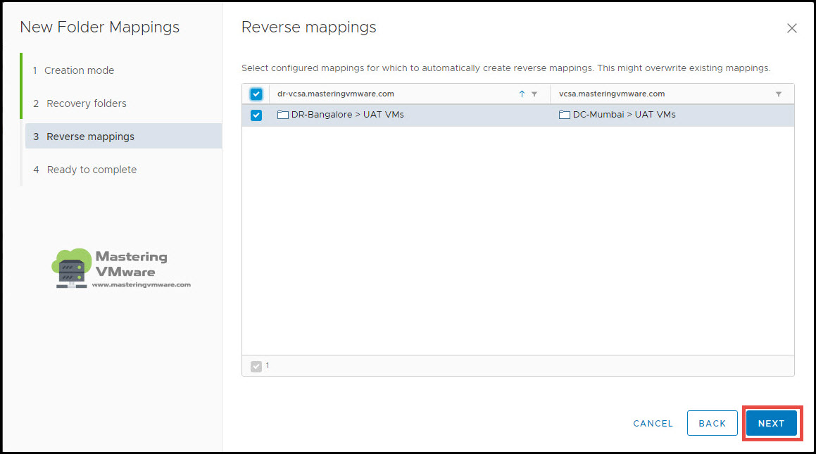 configure folder mappings in srm