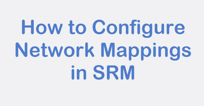 configure srm network mappings