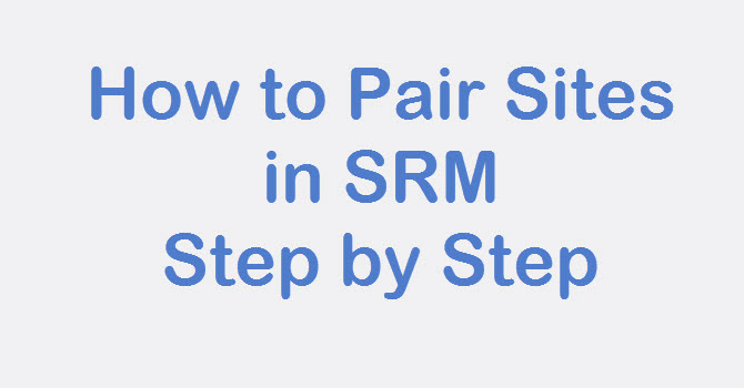 configure site pair in srm