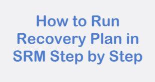 Run Recovery Plan