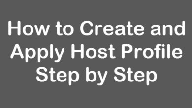 create host profile