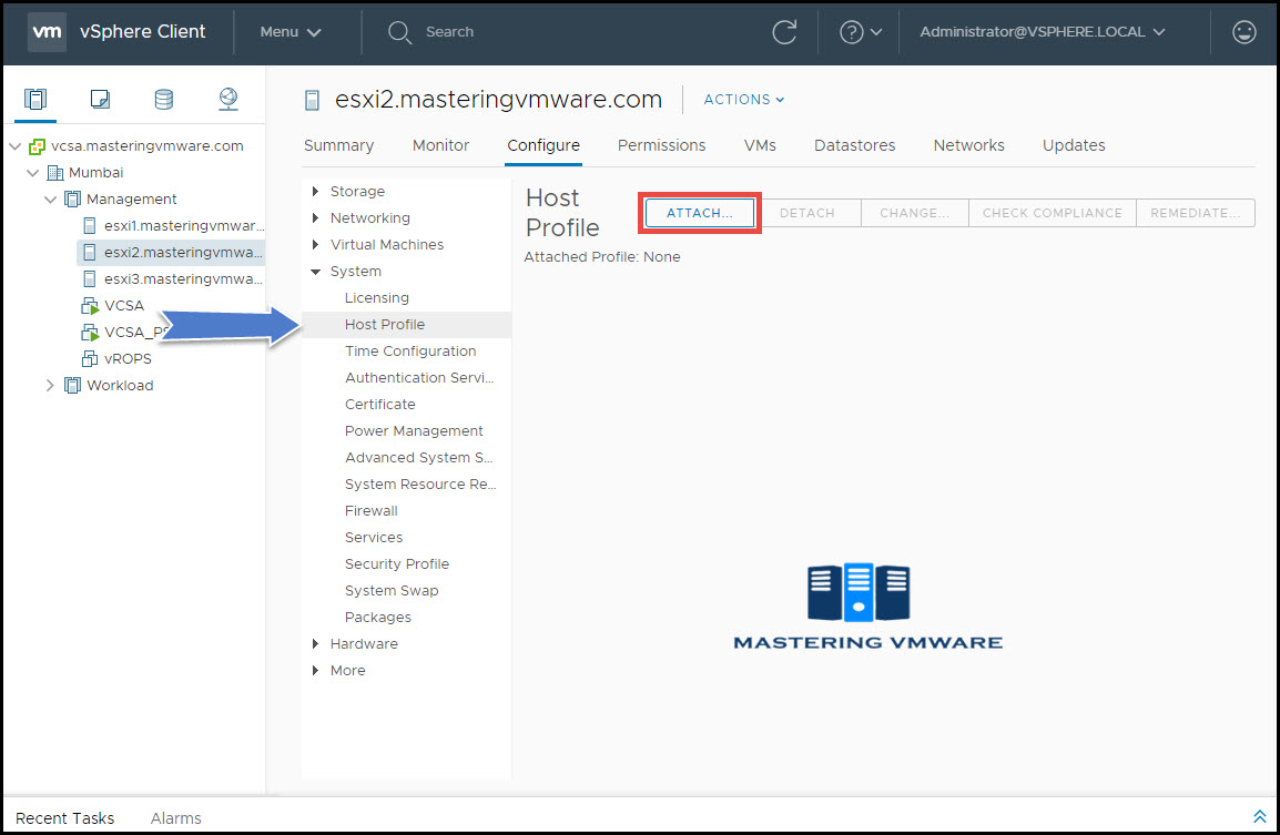 Create Host Profile | Mastering VMware