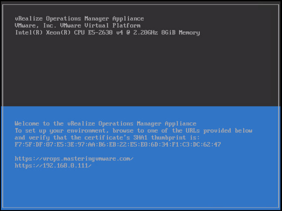 deploy vrops ovf template