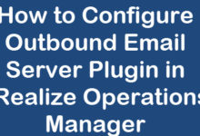 configure outbound email in vrops