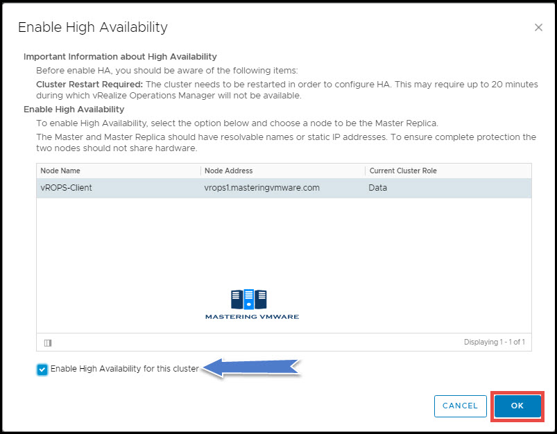 vROPS High Availability