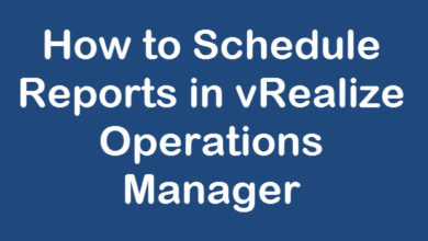 schedule report in vrops