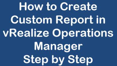 custom reports in vrops