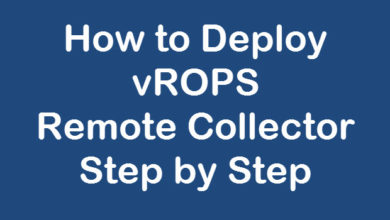 Deploy vrops remote collector