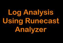 Photo of Log Analysis using Runecast Analyzer