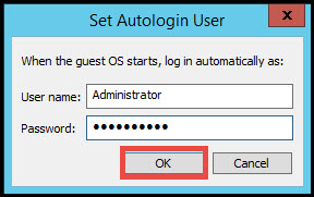 VMware workstation auto login