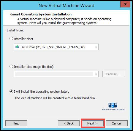 create virtual machine in vmware workstation