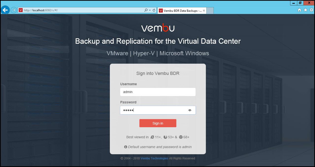 Vembu BDR Suite