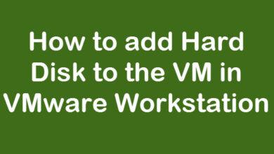 Add HDD to VM in vmware workstation