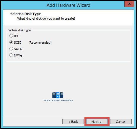 Add HDD to VM in vmware workstation