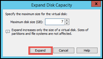 Extend hard disk in VMware Workstation