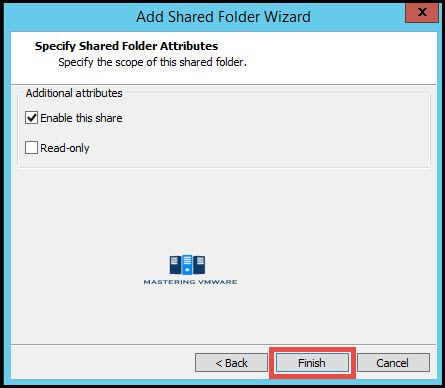 configure shared folders in VMware Workstation