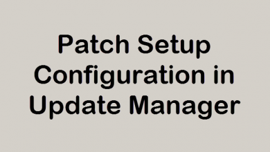 Photo of Patch Setup Configuration in VMware Update Manager
