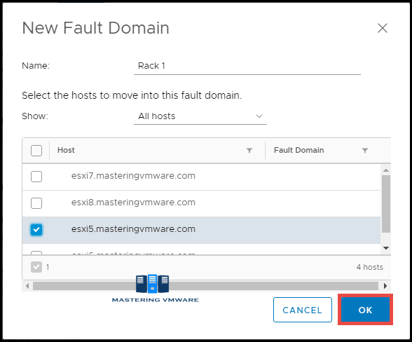 vsan fault domain