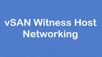 Photo of vSAN Witness Host Networking
