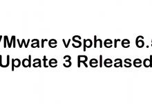 Photo of VMware vSphere 6.5 Update 3 Released