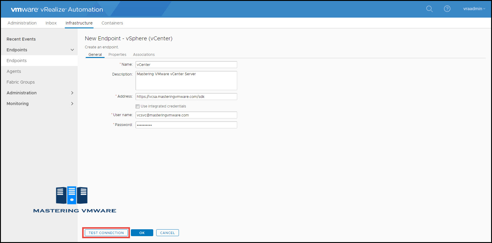 configure endpoint in vra