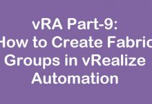 create fabric group in vra
