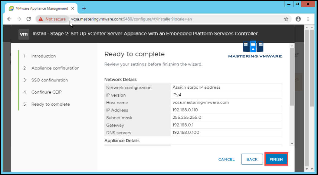 deploy vcsa on vmware workstation