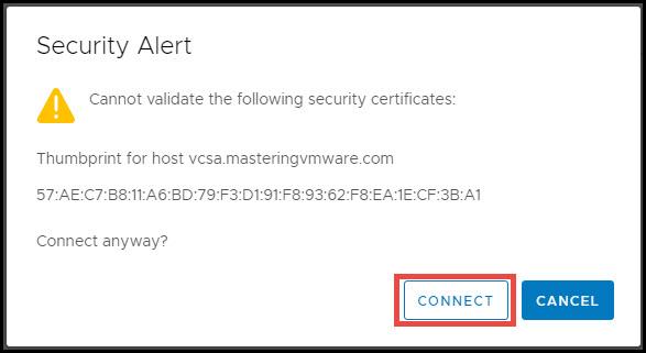 configure srm appliance & connect to vcenter server