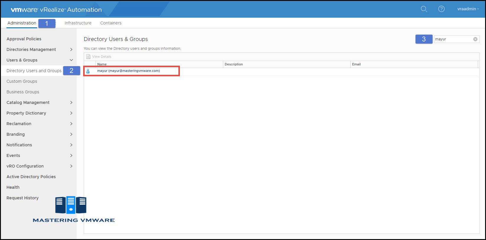 assign permissions in vra