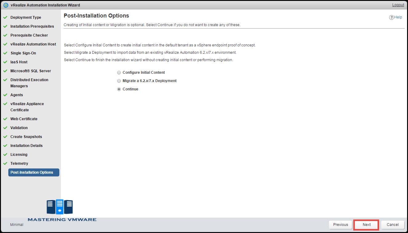 vra install & configure