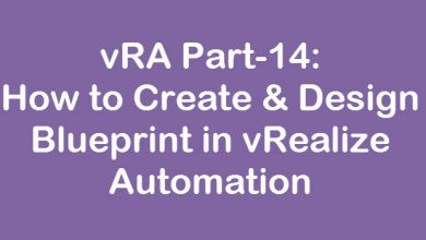 Photo of vRA Part-14: How to Create & Design Blueprint in vRealize Automation