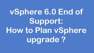 vSphere Upgrade Plan