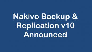 Photo of Nakivo Backup & Replication v10 Announced