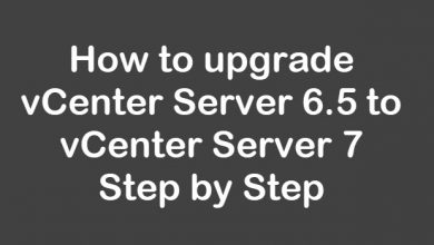 vcenter server upgrade 6.5 to 7.0